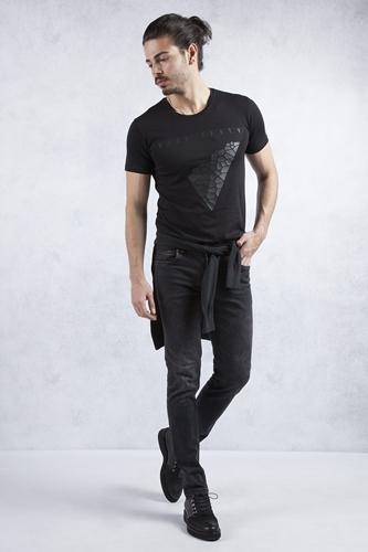 Siyah T-Shirt Kombin