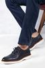 Lacivert Gündelik Deri Ayakkabı Kombini