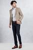 Kahverengi Kırçıllı Ceket - Slim Fit Lacivert Jean PantolonKombini