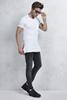 Beyaz Yan Fermuarlı Tshirt - Siyah Taşlama Jean Kombini
