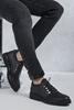 Siyah Antik Nubuk Gündelik Erkek Ayakkabı Kombini
