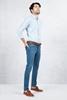Mavi Kırçıllı Gömlek - Dar Paça Mavi Jean Kombini