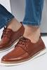 Taba Rengi Gündelik Ayakkabı Kombini