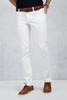 Beyaz Slim Fit Jean Kombini