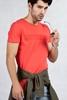 Turuncu Sıfır Yaka Erkek Tshirt Kombini