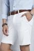 Mavi Kırçıllı Gömlek - Beyaz Kot Şort Kombin