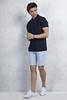 Lacivert Polo Yaka Tshirt - Buz Mavisi Şort Kombini