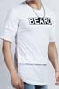 Beyaz Sıfır Yaka Tshirt Kombini