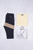 Açık Sarı Etek Garnili T-Shirt - Lacivert Çizgili Zincirli Pantolon Kombini
