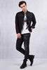 Siyah Kot Ceket - Siyah Taşlamalı Slim Fit Jean Kombini