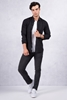 Siyah Kare Desen Gömlek - Siyah Gabardin Slim Fit Kot Pantolon Kombini
