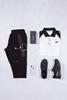 Beyaz Polo Yaka Tshirt - Siyah Eşofman Kombini