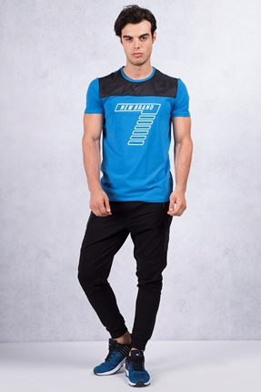 Koyu Mavi Tshirt - Siyah Eşofman Kombin