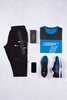 Koyu Mavi Tshirt - Siyah Eşofman Kombini