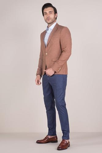Hardal Rengi Blazer Ceket Erkek Kombin