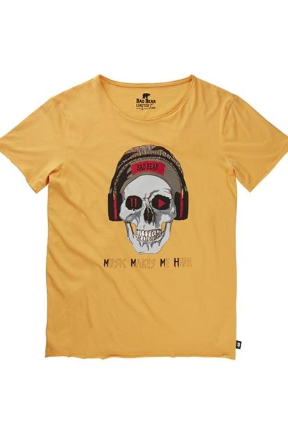 Play/Pause Sarı Erkek Tişört
