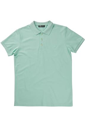 Basic Pique Polo Yaka Yeşil Erkek Tişört