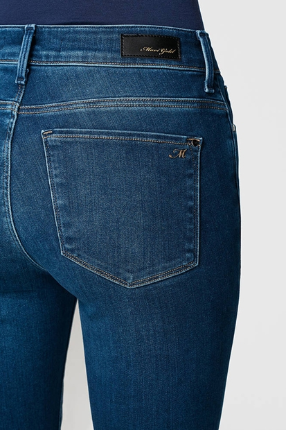 Tess Aqua Gold Lux Mavi Kadın Pantolon