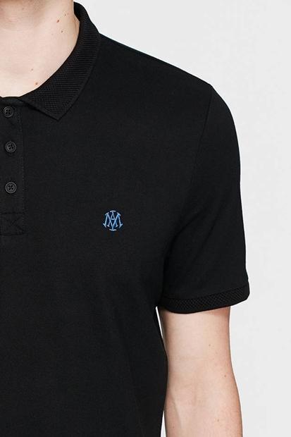 Polo Yakalı Siyah Erkek Tişört