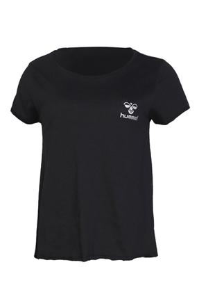 Florus Siyah Kadın Tişört