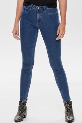 Fhi-Rise Skinny Jeans Mavi Kadın Pantolon