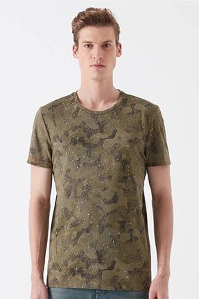 Baskılı Zeytin Yeşili Erkek Tişört