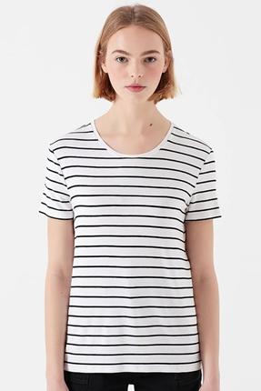 Basic Kısa Kollu Beyaz Kadın Tişört