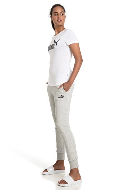 Logolu Beyaz Kadın Tişört