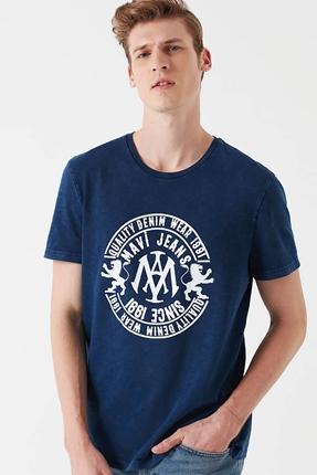 Logo İndigo Lacivert Erkek Tişört