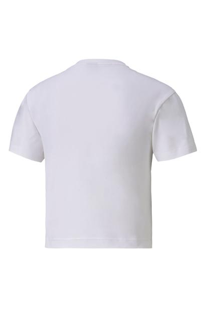 Nu-tility Fitted Beyaz Kadın Tişört