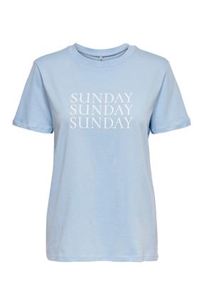 Weekday Life Reg Mavi Kadın Tişört
