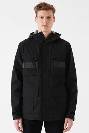 Cepli Ceket Siyah Erkek Mont