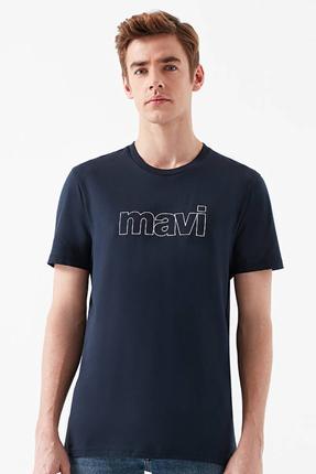 Logolu Gece Lacivert Erkek Tişört