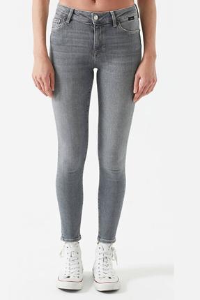 Tess Mid Grey Vintage Gri Kadın Pantolon
