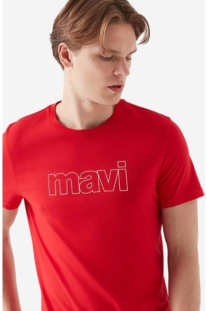 Logolu Kırmızı Erkek Tişört
