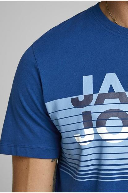 Brix Tee Ss Crew Mavi Erkek Tişört