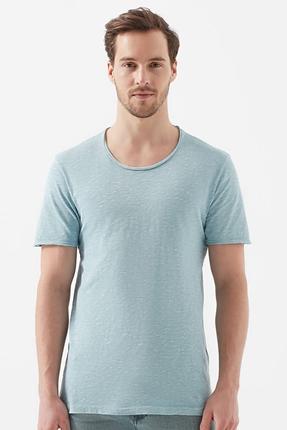 Toz Mavi Erkek Tişört