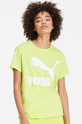 Classics Logo Yeşil Kadın Tişört