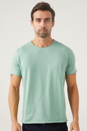 Yeşil Erkek Bisiklet Yaka Tişört