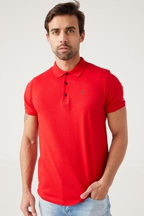 Kırmızı Erkek Polo Yaka Tişört