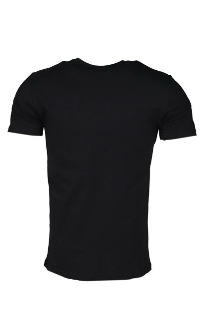 Siyah Erkek Bisiklet Yaka Tişört
