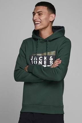 Anton Sweat Hood Noos Yeşil Erkek Sweatshirt