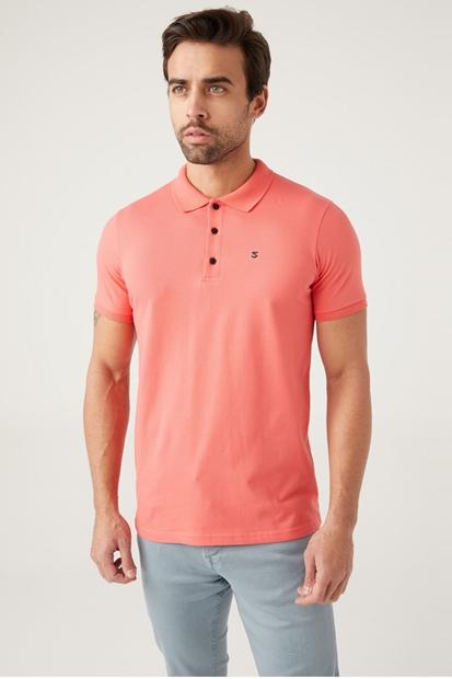 Pembe Polo Yaka Tişört