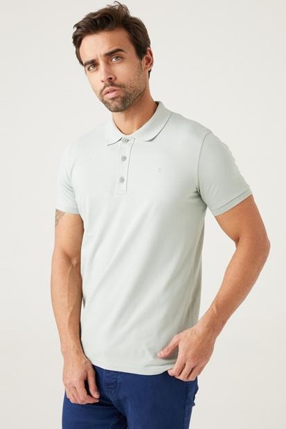 Gri Erkek Polo Yaka Tişört