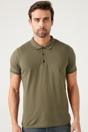 Polo Yaka Haki Erkek Tişört