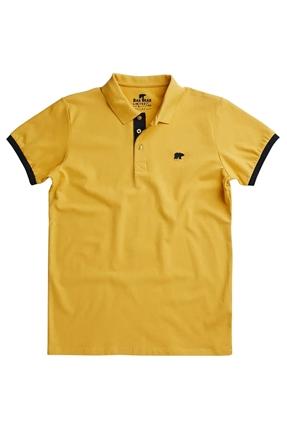 Rim Pique Polo Yaka Sarı Tişört