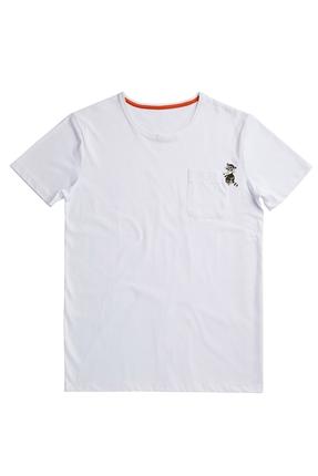 Racoon Tee Beyaz Erkek Tişört