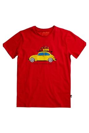 Travel Bear Tee Kırmızı Erkek Tişört