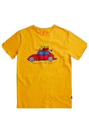 Travel Bear Tee Sarı Erkek Tişört