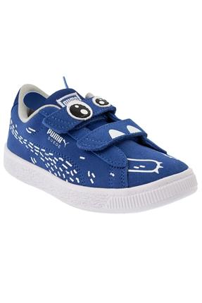 Suede Monster Family Mavi Çocuk Ayakkabı
